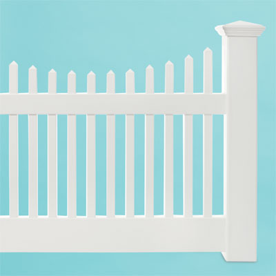 new england scalloped square vinyl picket fence