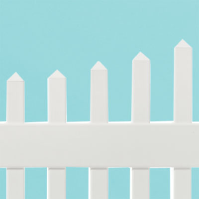 hollow pickets on the high-end new england scalloped square vinyl picket fence