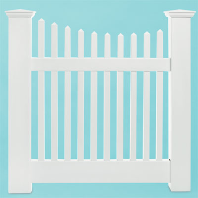 budget grand illusions classic victorian scalloped vinyl picket fence
