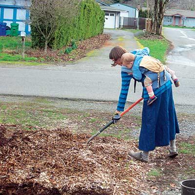 woman working in community garden