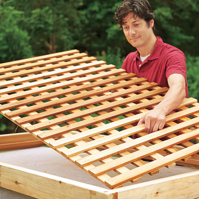 How to install wood lattice under deck