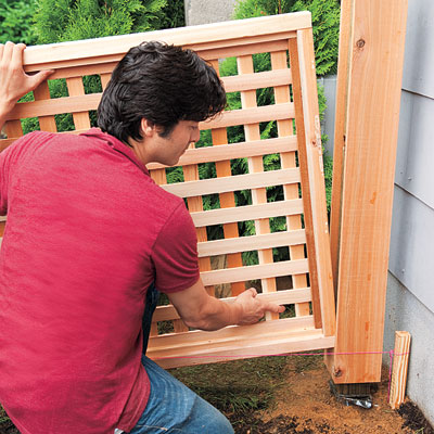 Building Lattice Fence Panels