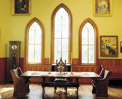 Adaptive reuse church dining room