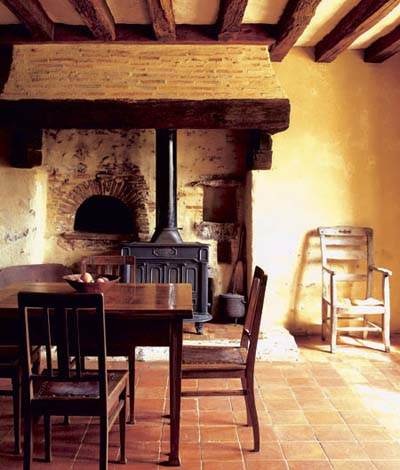 French farmhouse dining area