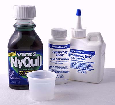 cough syrup cup for mixing two-part fillers and glues