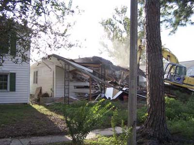 demolition of the Batten home in New Orleans