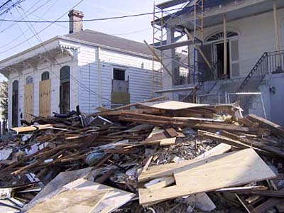 aftermath hurricane Katrina