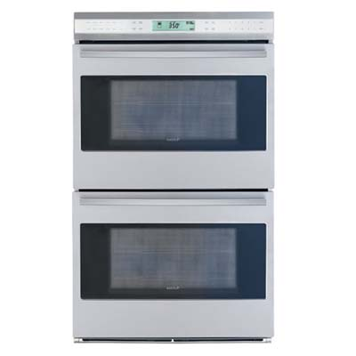 Black and silver e-series oven from Wolf