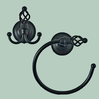 classic-black finish bathroom accessories