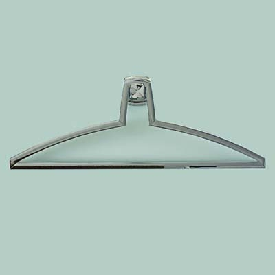 polished chrome robe hanger