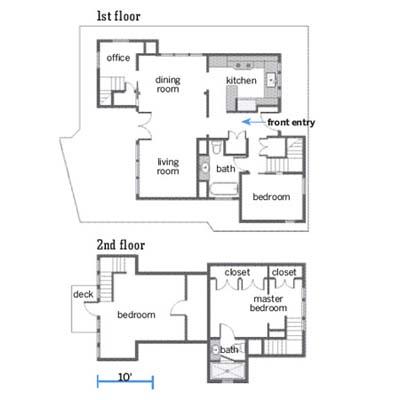 remodeled Seattle houseboat floor plans