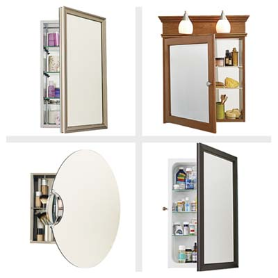 medicine cabinets with built-in extras