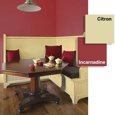 color combination for breakfast nook