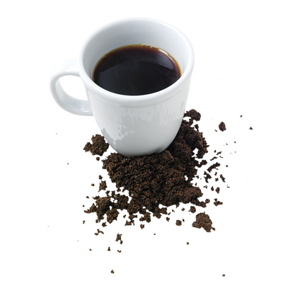 coffee cup and coffee grounds