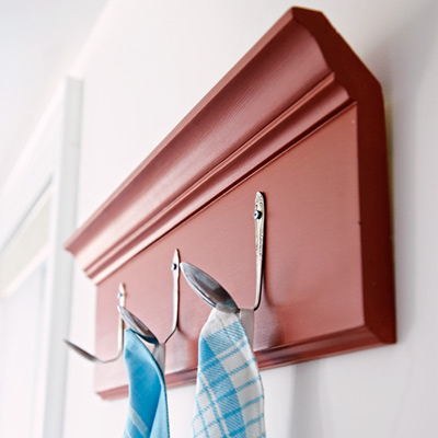 spoons used as hooks
