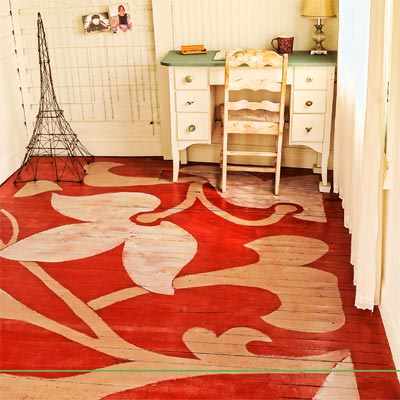 Flower Painted Floor Readers 39 Clever Upgrade Ideas That