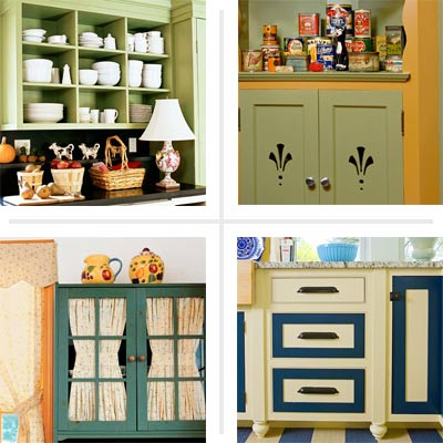 Kitchen cabinet makeover ideas on a budget images for Ideas to redo old kitchen cabinets