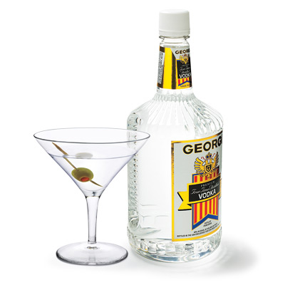 Vodka bottle with martini