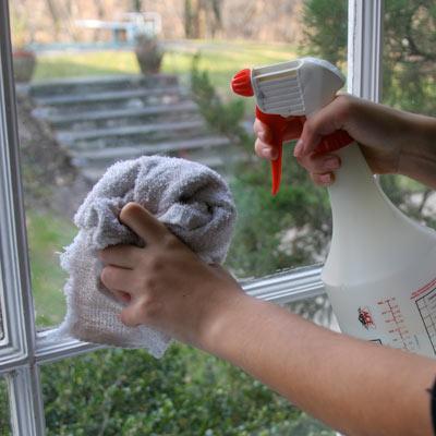 Washing windows with vodka