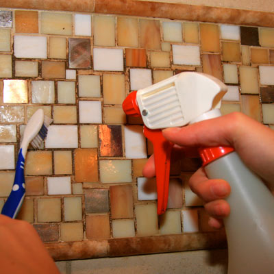 cleaning tile with vodka