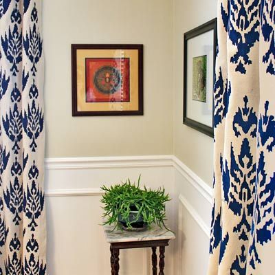 dining room budget redo after marble top thrift store table framed wall photos wainscoting