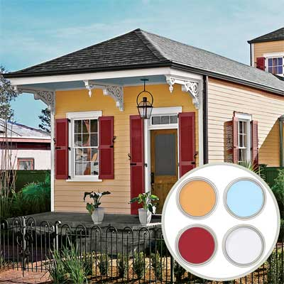 Historic color palette shotgun cottage all about for Home outside palette