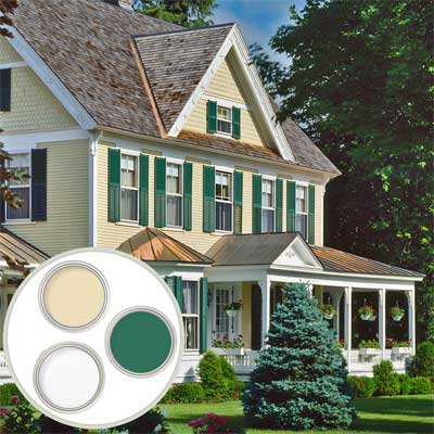 Colonial Revival  Historic Color Palette when learning all about exterior paint