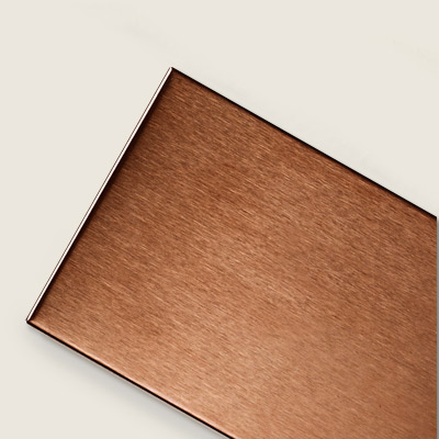 metal-over-porcelain alloy copper subway tile 