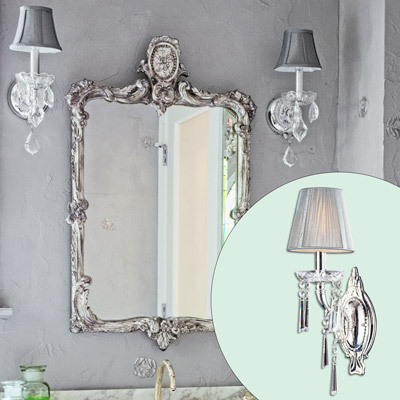 5 Crystal Sconce Create A Glam Hollywood Bath This
