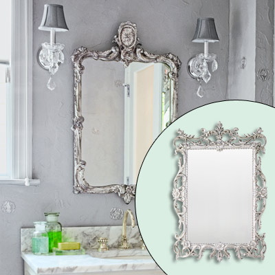 mirror with silver frame 