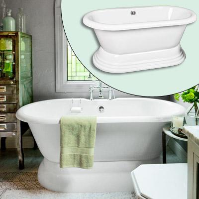 acrylic pedestal tub