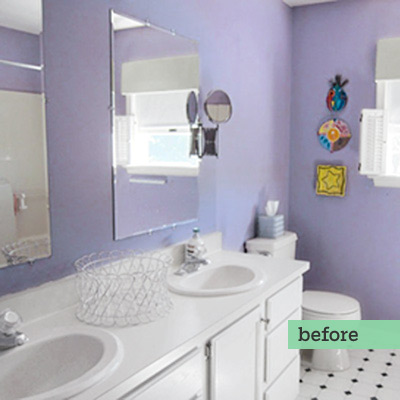 full bath before remodel with purple walls