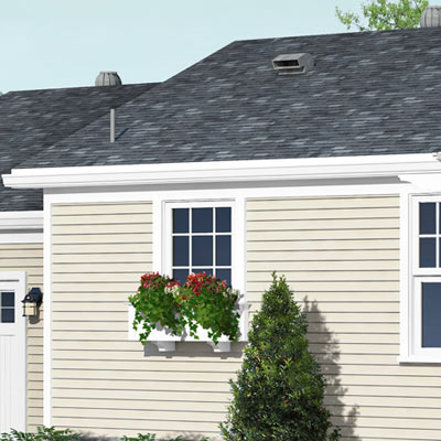 detail of clapboard siding from a Photoshop remodel