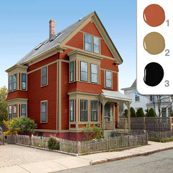 Picking the perfect exterior paint colors patriot painting professionals inc - Red exterior wood paint plan ...