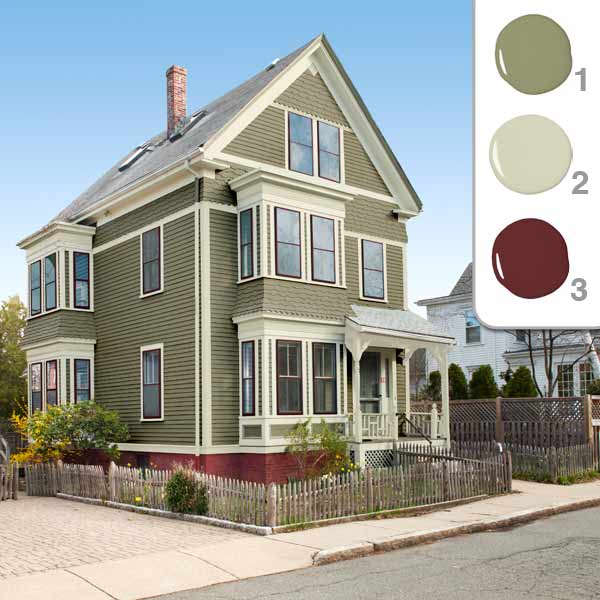 TOH TV Cambridge House 2012 owners choosing an exterior color sage color scheme