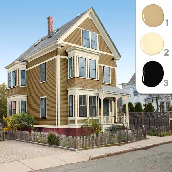 TOH TV Cambridge House 2012 owners choosing an exterior color mustard color scheme