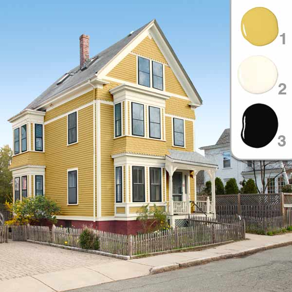 Home exterior colors yellow the image for Best yellow exterior paint color