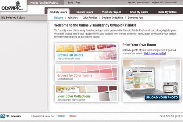 screen shot of Olympic ColorClix painting app