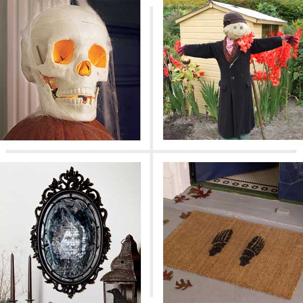 composite of Halloween step-by-step projects