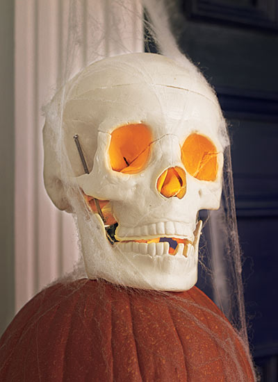 Halloween skill builder for how to make a fake skull light