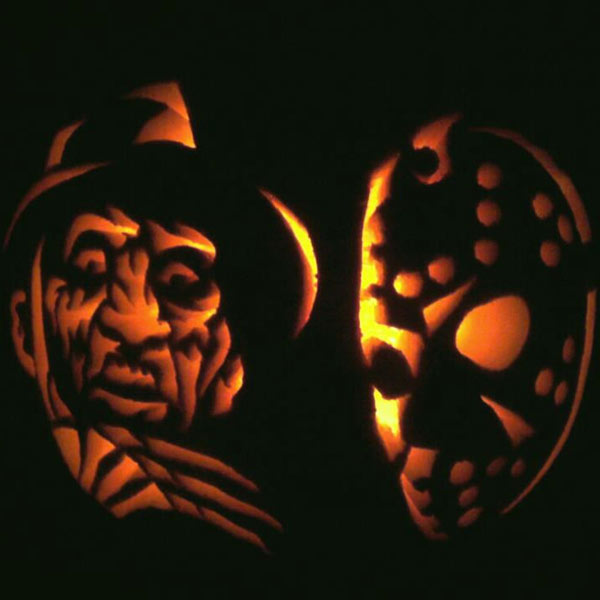 pumpkin carving contest freddy versus jason