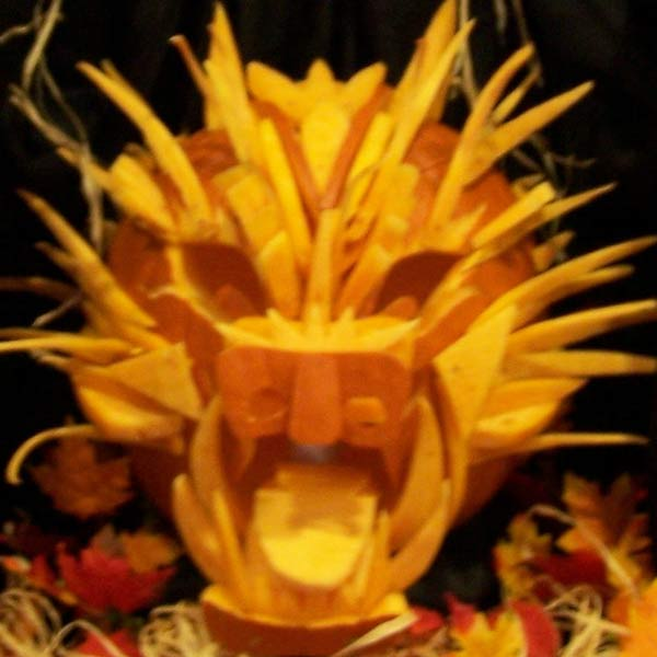 pumpkin carving contest dragon
