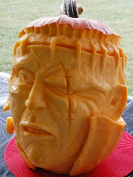 pumpkin carving contest frankenstein