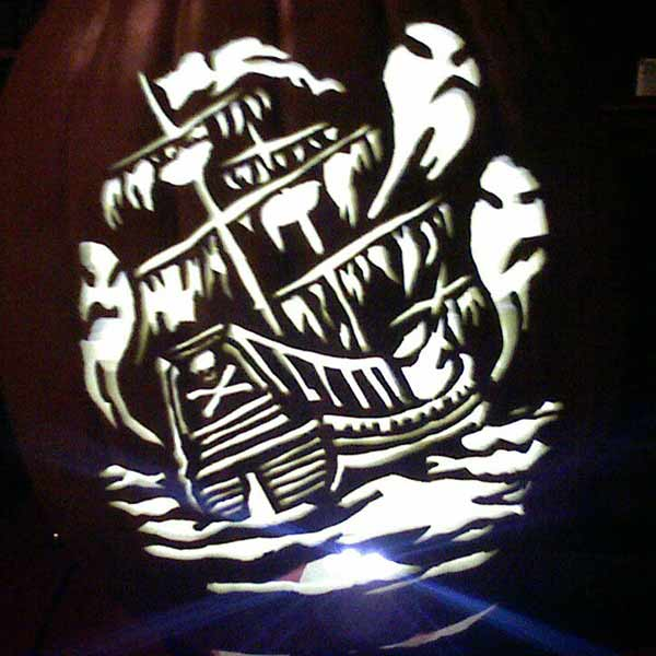 pumpkin carving contest ghost pirate ship
