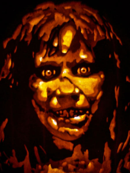 pumpkin carving contest regan from the exorcist movie