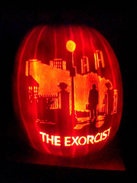 pumpkin carving contest the exorcist movie poster