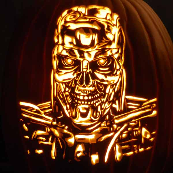 pumpkin carving contest terminator