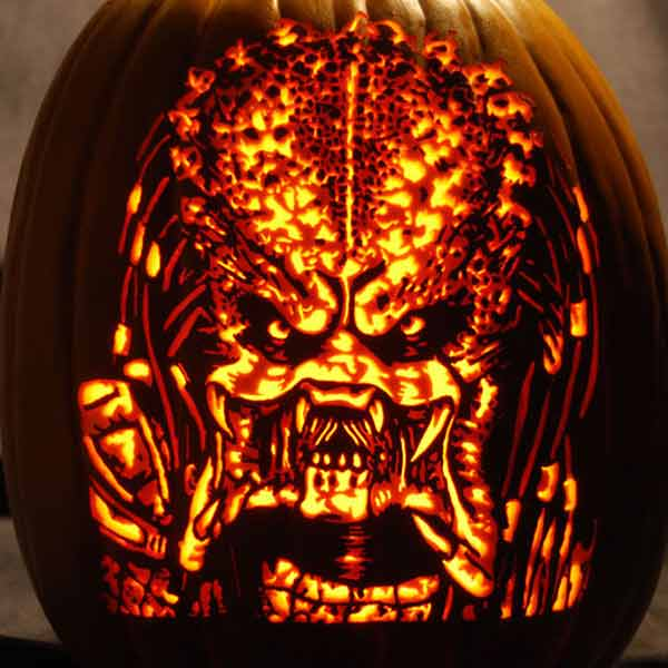 pumpkin carving contest predator