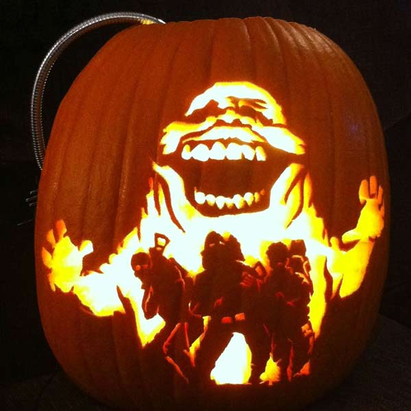 pumpkin carving contest ghostbusters