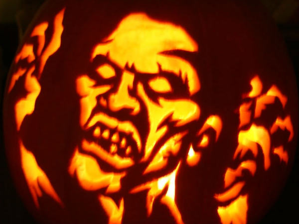 pumpkin carving contest zombie